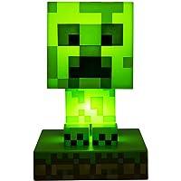 Paladone Minecraft Creeper 3D Icon Light BDP   Licencia oficial de luz verde pixelada brillante o lámpara de escritorio…
