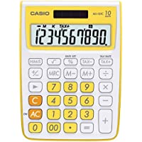 Casio MS-10VC Standard Function Calculator, Yellow