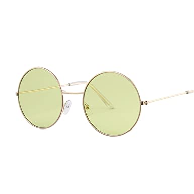 Amazon.com: nboba Round Sunglasses Women Ocean Color Lens ...