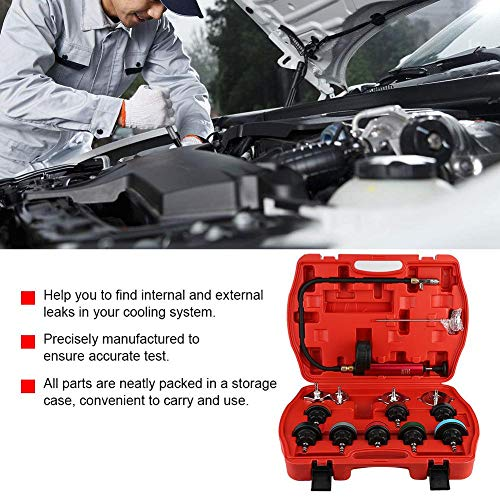 Cooling System Tester, 14pcs Universal Car Water Tank Leak Tester Cooling System Detector Tool Kit by Aramox (Image #7)