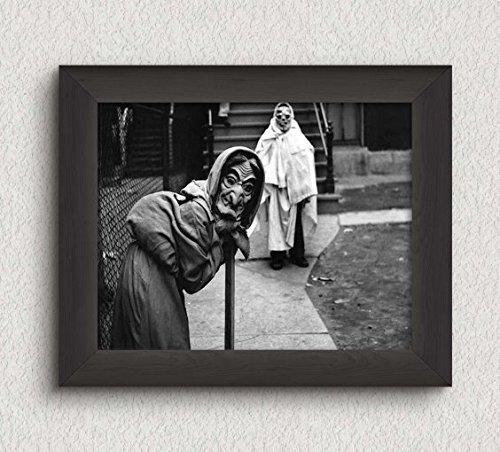 Creepy Kids Trick or Treating Photo Vintage Art Print - 8x10 Wall Art - Halloween Decor (Halloween Photos Vintage)