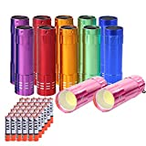 ChaseLight Small Mini Flashlights Pack of 12, New Type Cob Mini Flashlight, Multipack Bulk Flashlights for Kids With Battery