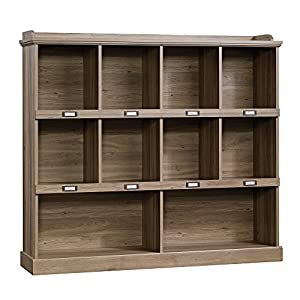 Sauder 414726 Barrister Lane Bookcase, L: 53.15″ x W: 12.13″ x H: 47.52″, Salt Oak finish
