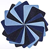 Iron-On Patches, YKEZHU 18 Pieces 3 Colors Denim Cotton Patches Iron Repair Kit, Iron-on Patches, Decoration for Jeans Clothes