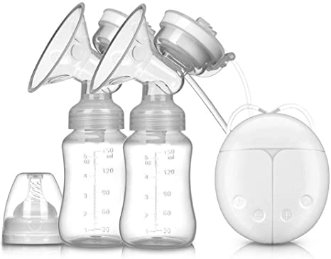 Electric Double Breast Pumps White BPA-Free USB Dual Breast Pump Safety Comfortable Portable Breast Pump with Adjustable Suction /& Pumping Levels for Moms Comfort,