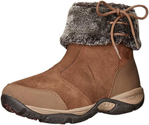 Easy Spirit Womens Elementa Ankle Bootie Medium Brown/Multi Suede