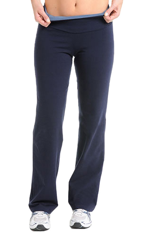The Girls Tummy Control Plus Size Women's Bootcut Pant (1X, Navy)