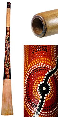 Painted Didgeridoo - Didgeridoo Teak Wood Painted (51 inch)