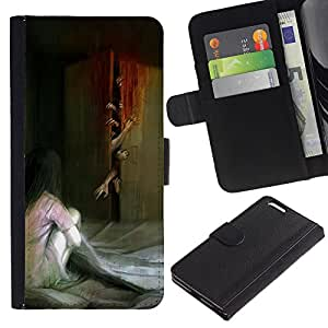 iBinBang / Flip Funda de Cuero Case Cover - Monster Zombie Scary Painting - Apple Iphone 6 PLUS 5.5