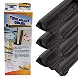 Anladia 3x Twin Draft Dodger Guard Stopper Protector Under Door Draught Excluder 90cm