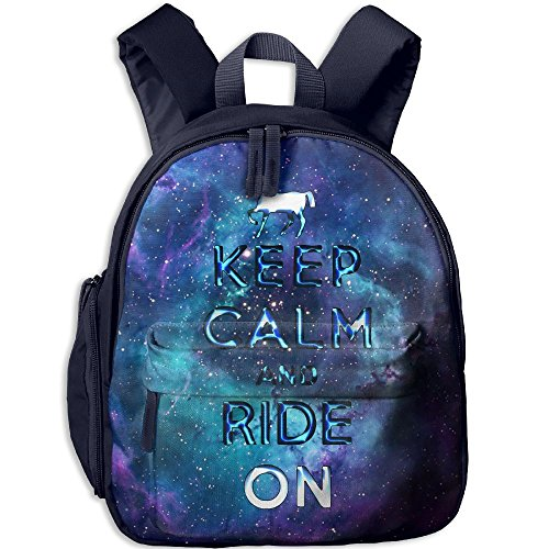 Equestrian Day Bag (Horse Equestrian Gift Keep Calm School Backpacks For Boys Girls Cute Bookbag Outdoor Daypack Colorkey)