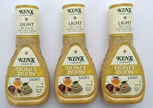 Ken's Steak House Light Options Honey Dijon Dressing, 9 Oz (Pack of (Honey Dijon Dressing)