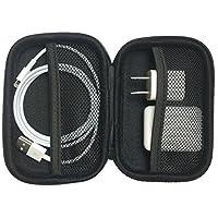 Estuche AirPods - Estuche rígido premium con cremallera [Sujeta AirPods, Cable de iluminación, Adaptador de corriente]