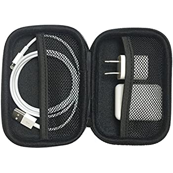 AirPods Case - Premium Zipper Hard Case [Holds AirPods, Lighting Cable, Power Adapter]