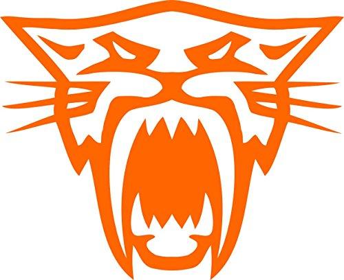 (Pair of Arctic Cat Head Decal Sticker (Orange))