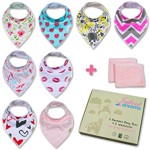 Bandana Baby Bibs for Girls by Infant Dreams Newborn Baby Shower Gift  (Baby Gift Packages)