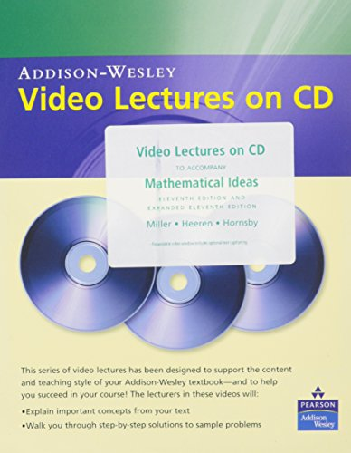 Video Lectures to Accompany Mathematical Ideas