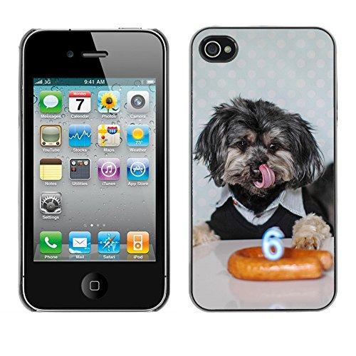 Premio Sottile Slim Cassa Custodia Case Cover Shell // F00013961 chien mignon // Apple iPhone 4 4S 4G