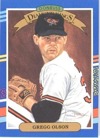 Amazon Com 1991 Donruss Baseball Card 23 Gregg Olson Collectibles Fine Art