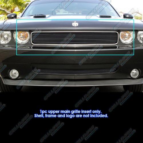 APS Compatible with 2009-2014 Dodge Challenger Black Billet Grille Grill Insert D66607H