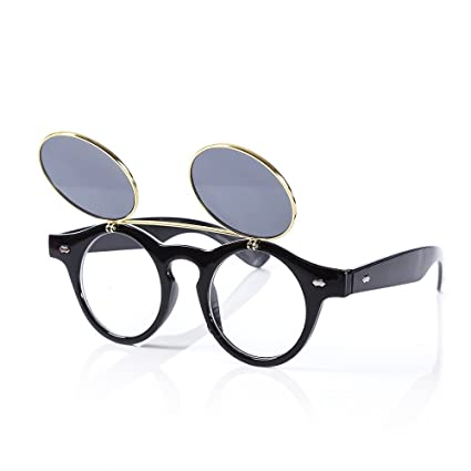 abc8db9357d63 Amazon.com   Creative Retro Two Layer Flip Lens Sunglasses of ...