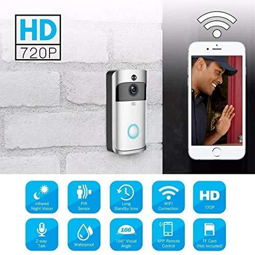 Bluefringe WiFi Smart Video Doorbell Camera Wireless Door Bell 720P HD Wireless Home Security Doorbell Camera with 32GB Storage Card(Not Included) by Bluefringe (Image #6)