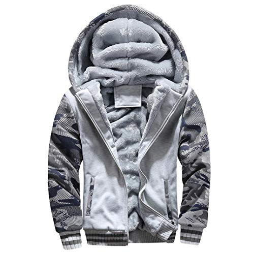 Unisex Warm Pant Up Varsity - Muranba Clearance Mens Winter Warm Fleece Hooded Zipper Outwear Coat