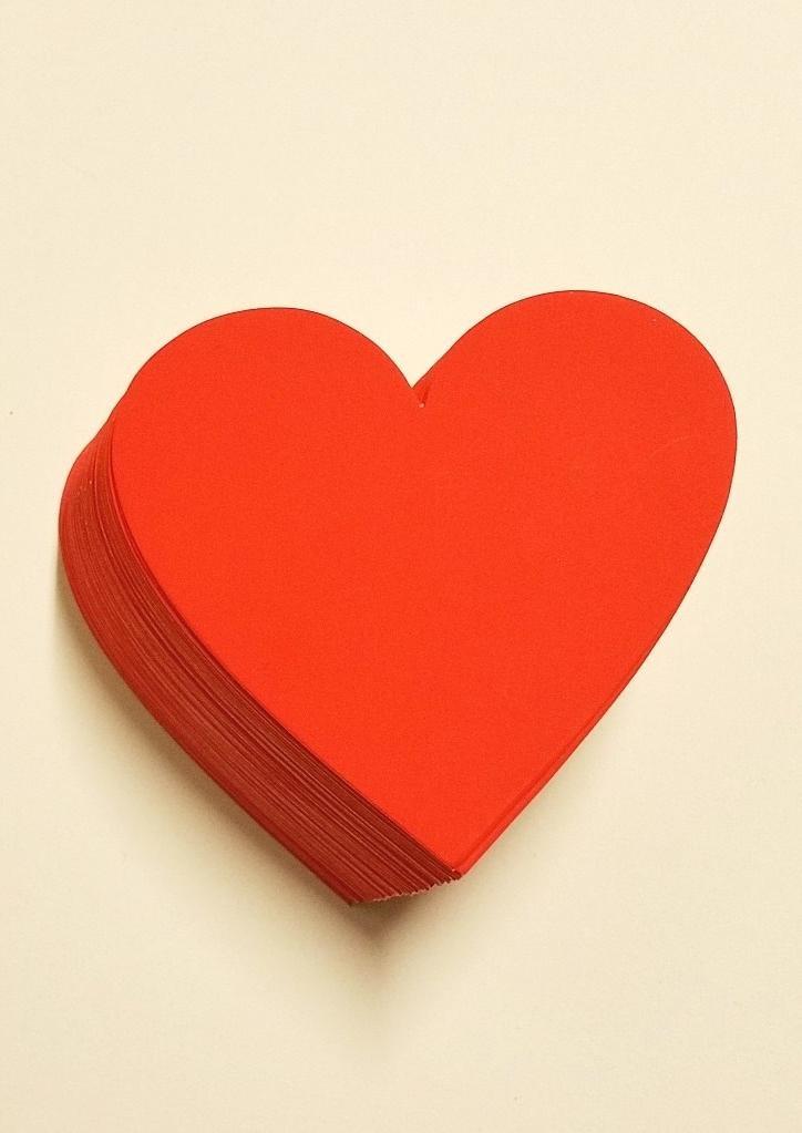 Preisschilder 50 Herzen aus Karton rot 9,5 x 10 cm 380g//qm Werbesymbole