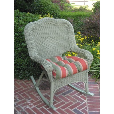 International Caravan 3182-1CH-WT-IC Furniture Piece Camelback Resin Wicker Rocker price