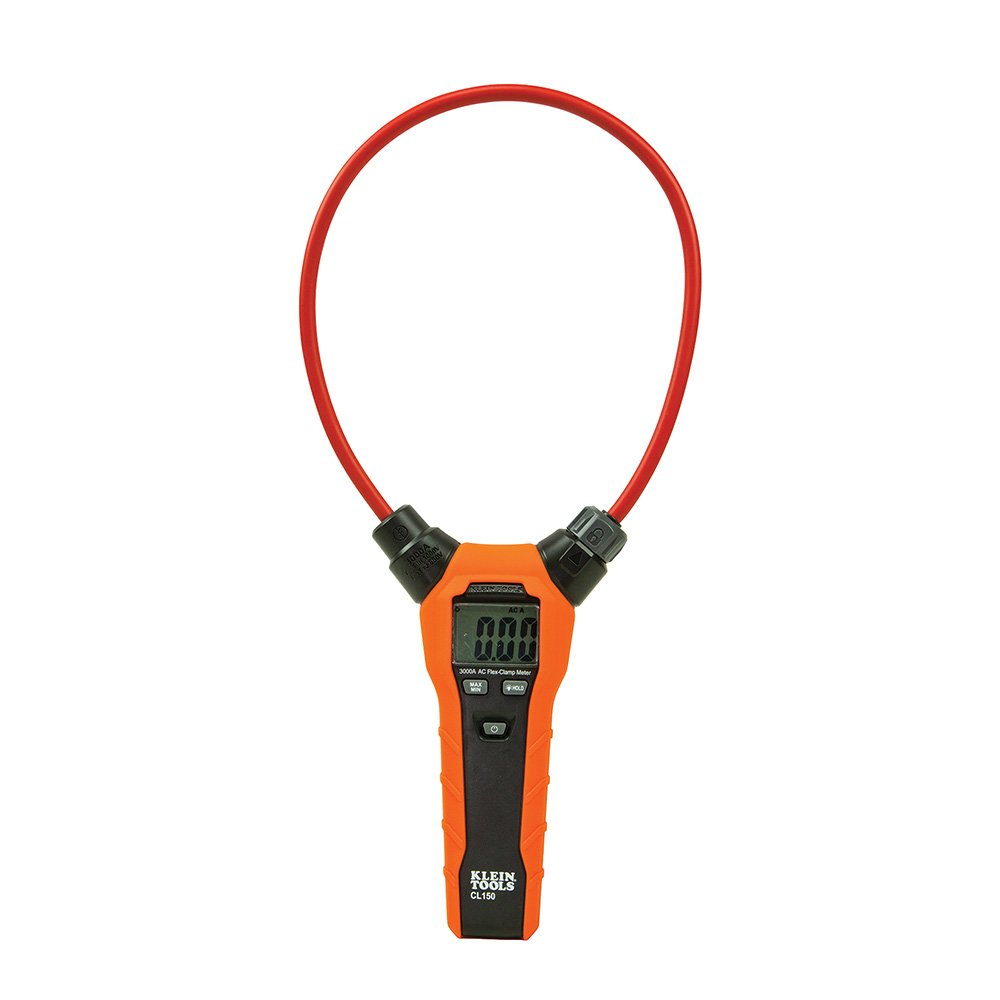 Clamp Meter, Flexible Clamp AC Current Meter with True RMS Readings, Auto Ranging and More Klein Tools CL150