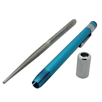 SharpMax 3 in1 al aire libre deportes cuchillo afilador portátil Pocket Pen táctico diamante hoja cuchillo afilador Kit caza anzuelo