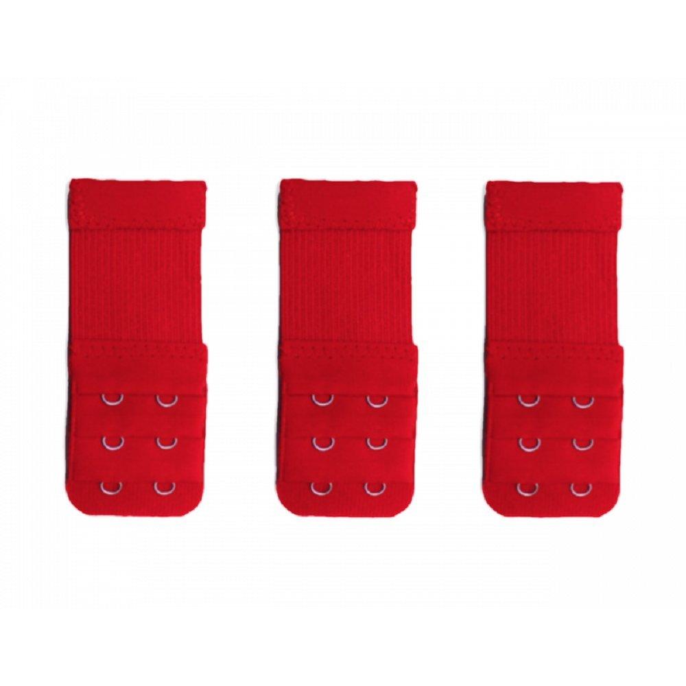 Kissa boutique 3 rallonges rouge extension soutien gorge 2 crochets fb43e05f5f3