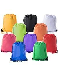 Basic Drawstring Tote Cinch Sack Promotional Backpack Bag