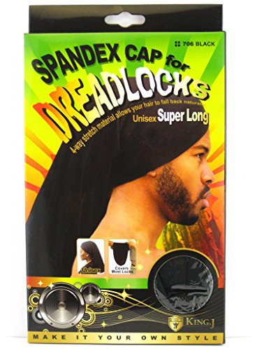 King J King J Spandex Cap for Dreadlocks Unisex Super Long price tips cheap