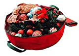 K-Cliffs Wreath Garland Storage Bag | Holiday Ornament Storage | Up to 30 Inches