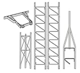 ROHN 25G Series 30' Tower Kit + HB25BG House Bracket