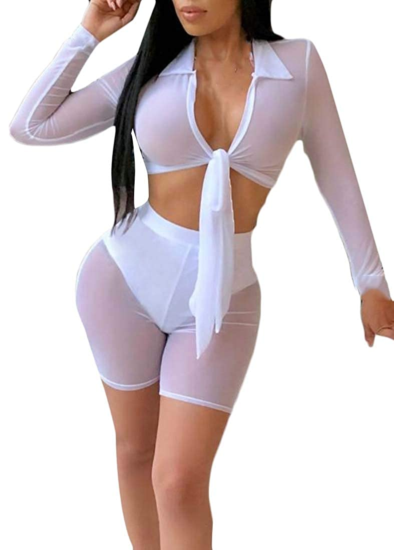Lutratocro Women Solid Outfits Club Crop Bodysuit Jumpsuits