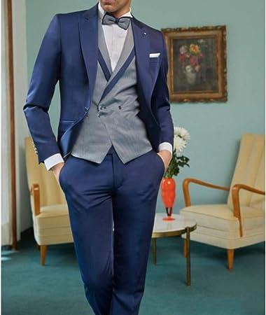 GFRBJK Azul Marino Trajes de Novio Esmoquin Trajes de Hombre ...