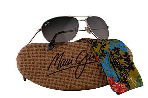 Maui Jim Baby Beach Sunglasses Silver w/Polarized Maui Pure Lens - Sunshine Sunglasses Maui Jim