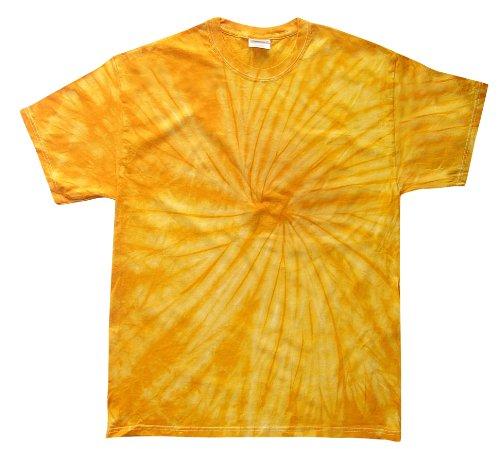 Tie Gold Dye (Colortone Tie Dye T-Shirt 6-8 (SM) Spider Gold)