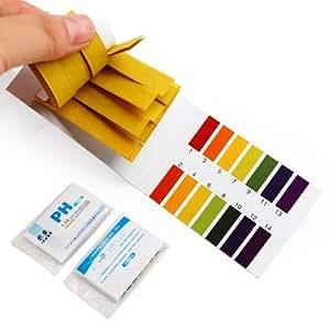 2 Paquetes 80 Tiras Reactivas pH 1-14 Test +Carta Color