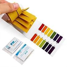 160PCS of PH Range 1-14 Litmus Indicator Test Strips --- Great for testing many usual everyday substances, including moisturized soap, lemon juice, milk, liquid detergent, moisturized soil, saliva, urine, sweat...etc