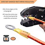 Crimping Tool for Heat Shrink Connectors – Ratcheting Wire Crimper – Crimping Pliers – Ratchet Terminal Crimper – Wire…