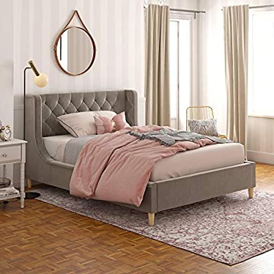 Little Seeds 4398429LS Monarch Hill Ambrosia Gray Full Size Upholstered Bed,
