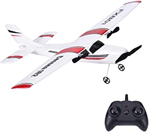 Remote Control Airplane, 2.4Ghz 2 Channel RC Plane Ready to Fly,DIY RC Airplane Toy Durable EPP Foam Built-in 3-Axis Gyro System, Easy to Fly RC Aircraft for Beginners Kids and Adults