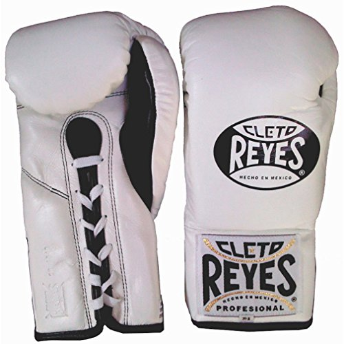 (Cleto Reyes Official Professional Fight Boxing Gloves Special Edition, White, 10-Ounce)