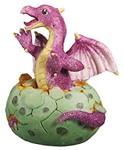 Purple Dragon Hatching Collectible Figurine