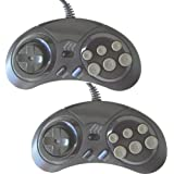 Pair of 6 button controllers for Sega Megadrive/Master System
