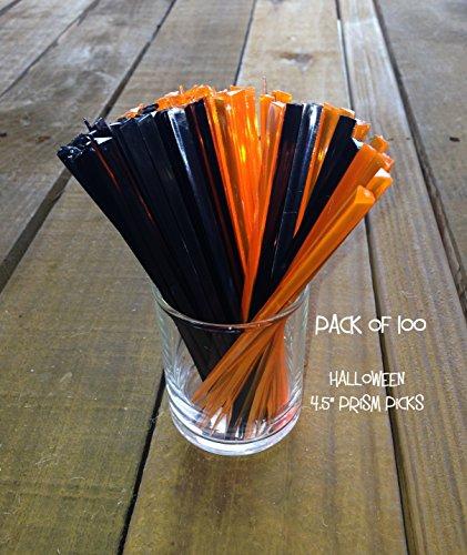 Picks, PACK of 100 ORANGE / BLACK 4.5
