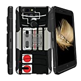 MINITURTLE Case Compatible w/ Hybrid Bumper Case for ZTE Blade X Z965 [Clip Armor] Rugged Hard Impact Case for ZTE Blade X w/ Stand and Holster [ for ZTE Blade X Z965 ] Game Controller Retro Review